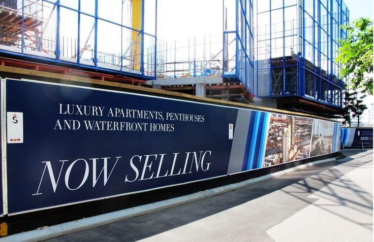 Hoarding banners as an apartment advertisement.