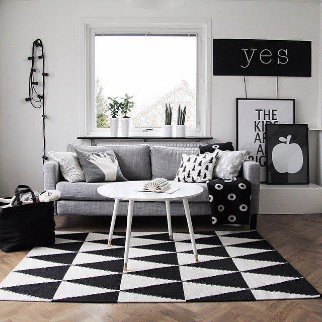Design Attractor: Interiors With Amazing Rugs · Black White ...