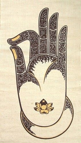 Hemp Wall Hanging Batik Buddha Vitarka mudra Gyan Hand Gesture Silk Screen | eBay