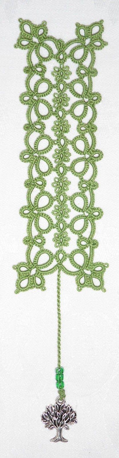 Le Blog de Frivole: Flowering Quatrain Bookmark Pattern #tatting