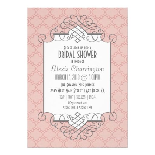 27 best glam art deco bridal shower invitations images on pinterest art deco bridal shower great gatsby style card filmwisefo Gallery