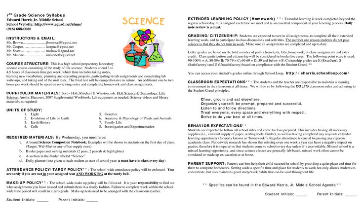 15 Awesome syllabus template for middle school images \u2026 Syllabus\u2026 - syllabus template