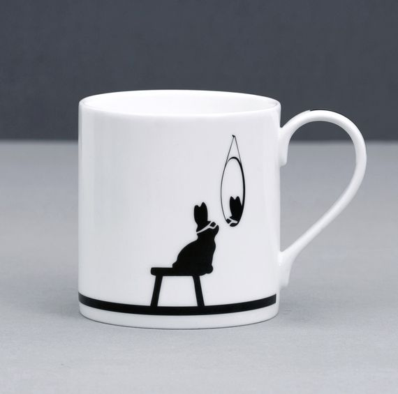 superhero rabbit (front) mug by HAM at Galerie CO