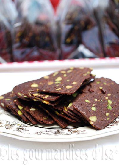 Croustilles aux pistaches et cacao