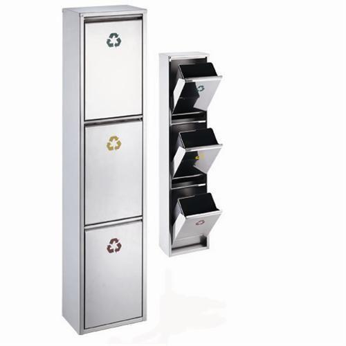 Design-24-l-Edelstahl-Abfallsammler-Abfalleimer-Muelleimer-Muelltrennung-3x8-l