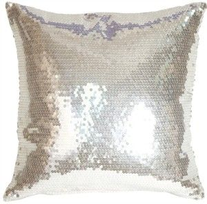 Silver Sequin Accent Pillow $29.95