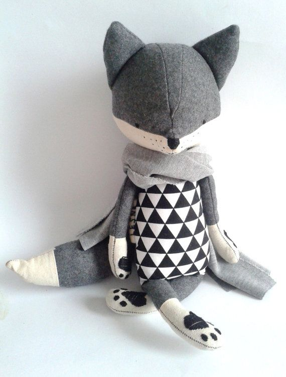 ROBIN the fox. made-to-order. stuffed toy. gift for children. eco toy. stuffed fox. toy fox. kids room decorative fox.