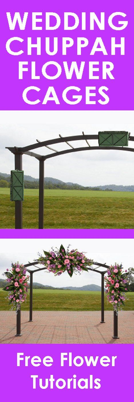 Wedding Flower Arch - Easy Step by Step Flower Tutorials  Learn how to make bridal bouquets, wedding corsages, church decorations pew ends and reception centerpieces.