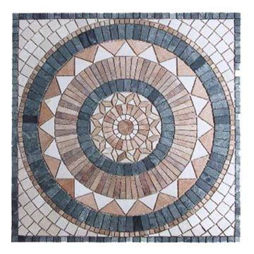 The Top Of A Table With Round Mosaic Tile Pattern Stock Photo Patterns Free