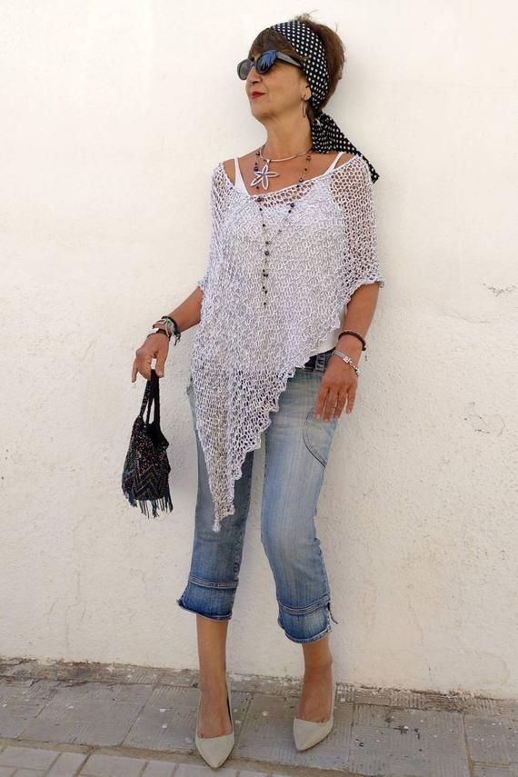 White Knit Poncho For Women White And Grey Cover Dress Etsy In 2020 Knitted Poncho Ladies Poncho Dress Cover