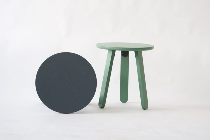 Stir Side table in Ash by KROFT. Modern side table in water based stains.