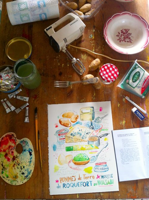 92 best recipe journal images on pinterest illustrated recipe luciles kitchen ile dyeu works 2 watercolor journalwatercolor foodrecipe forumfinder Gallery