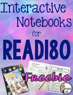 Classroom Tested Resources: Interactive Reader's Notebooks for Read180 {FREEBIE}