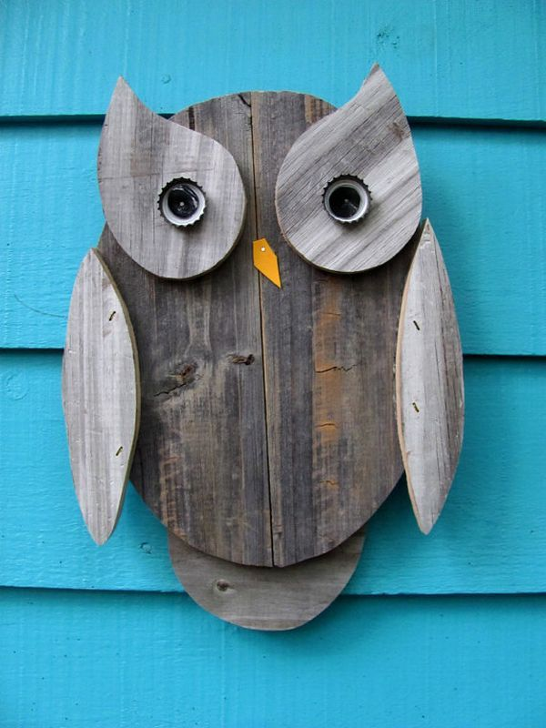 Recycled art. Create fun works of art yourself by recycling scraps of wood and other objects from your garden.  Why not get your children in...