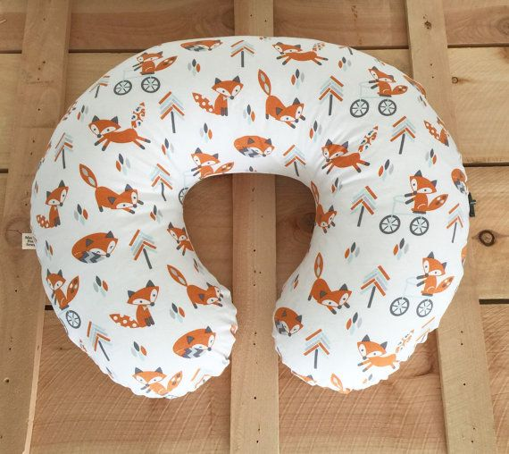 Boppy Cover Fox Woodland Tribal Gender Neutral  by MamaFoxSews