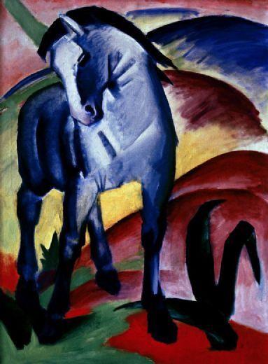 franz marc blaues pferd 1 oil-paintings