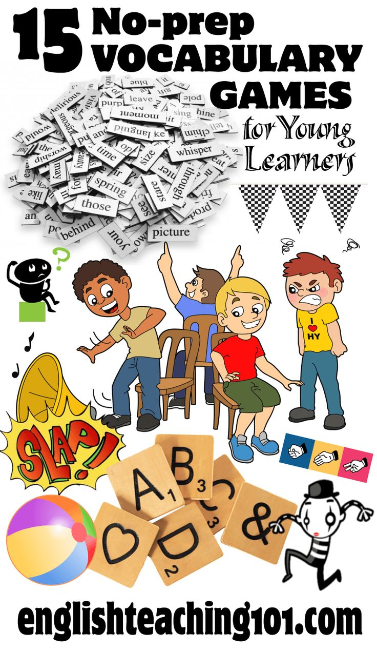 15 vocabulary games for young learners that require little to no preparation!