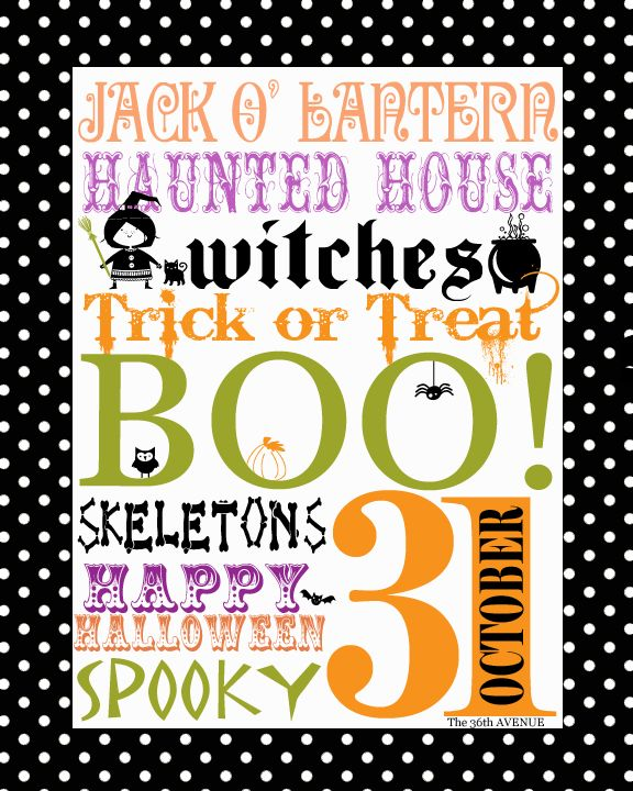 25 Halloween Free Fonts and Printable by the36thavenue.com #Halloween #printable