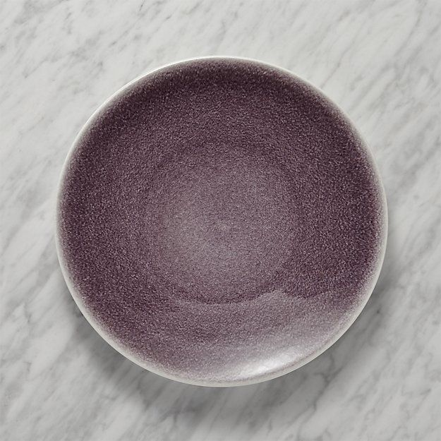 Crate & Barrel Jars Tourron Purple Dinner Plate