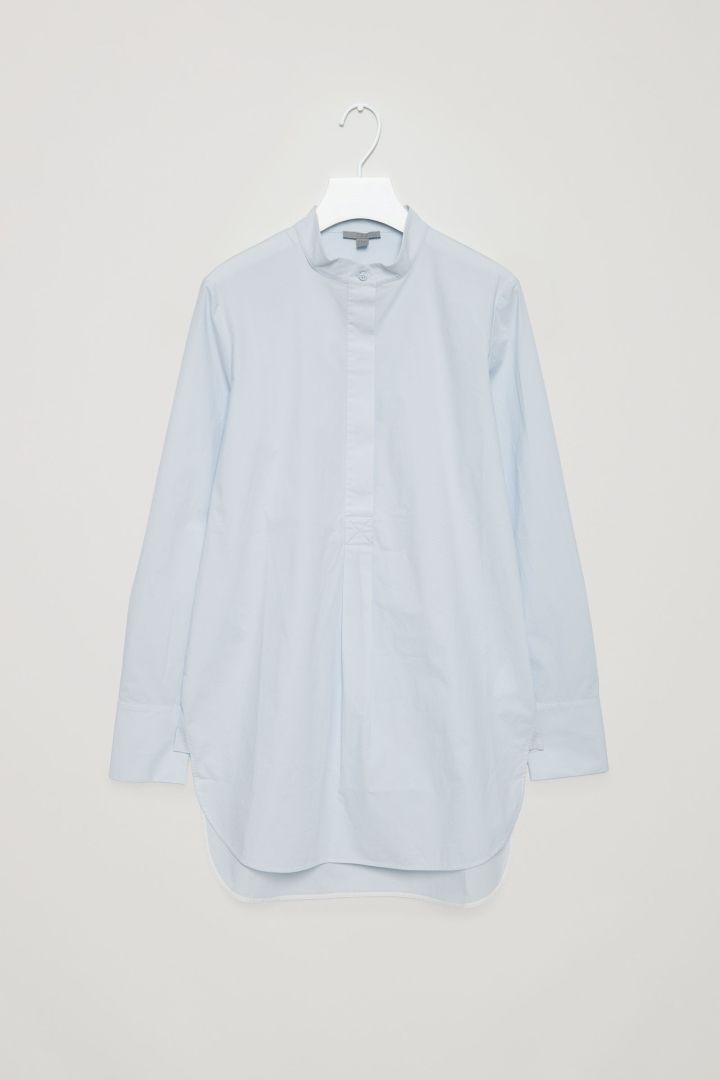 COS | Long grandad collar shirt