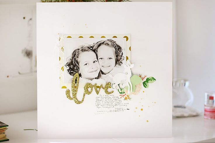 minimalScrap: Love | traditional scrapbook layout by todido