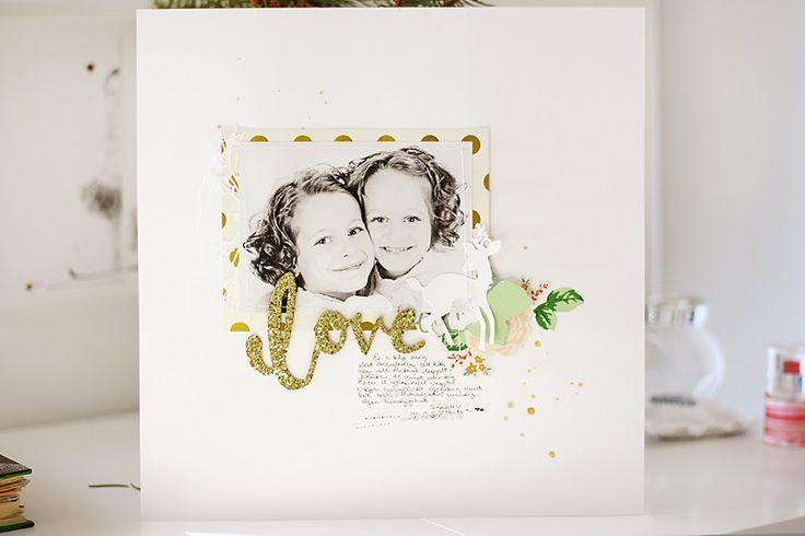 minimalScrap: Love | traditional scrapbook layout by todido