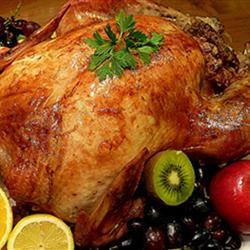 Roast Turkey With Tasty Chestnut Stuffing Allrecipes.com