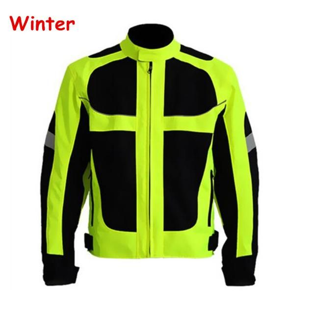 Men's Summer Winter Motorcycle Jacket Off Road Auto Racing Motocross Protective Gear Reflective Safety Clothing
