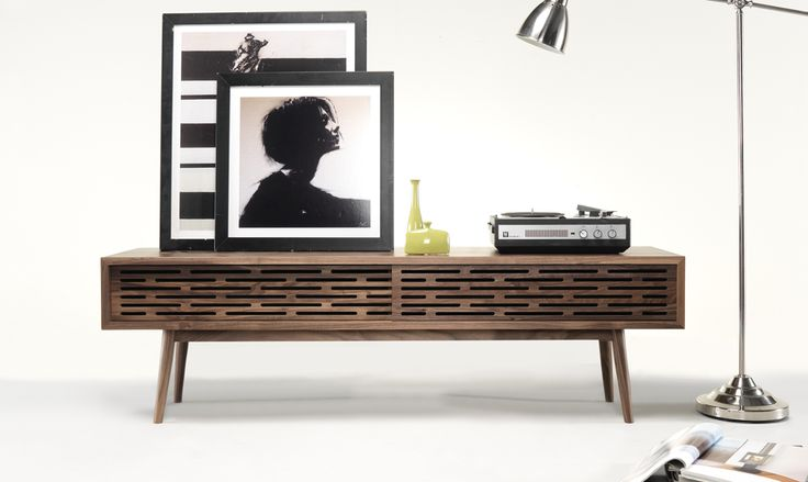 Wewood Radio sideboard is the perfect piece to your living room decor! #radio #sideboard #ideas #livingroom #storage #soliwood #solidwalnut #wewood