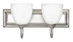 Sunset Lighting F3622-53 Two Light Round Bath Vanity, Satin Nickel Finish with Frosted Milk Glass by Sunset Lighting. $34.00. Mounting Direction: Down / Shade Included: TRUE.