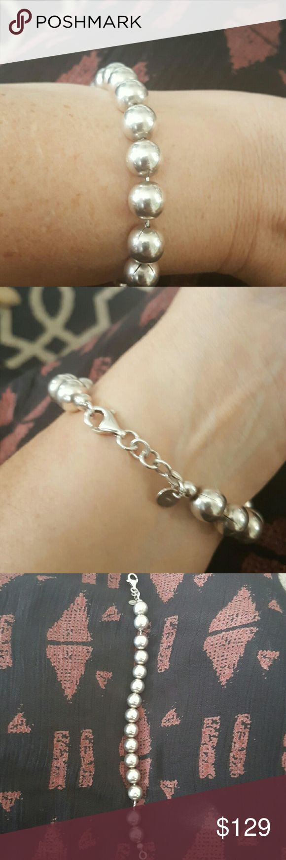 Tiffany bracelet This is the Tiffany bracelet it's 8 inches long the large beads Tiffany & Co. Jewelry Bracelets