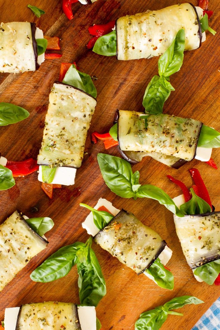 Summer Eggplant and Feta Rolls   | Nadia Lim