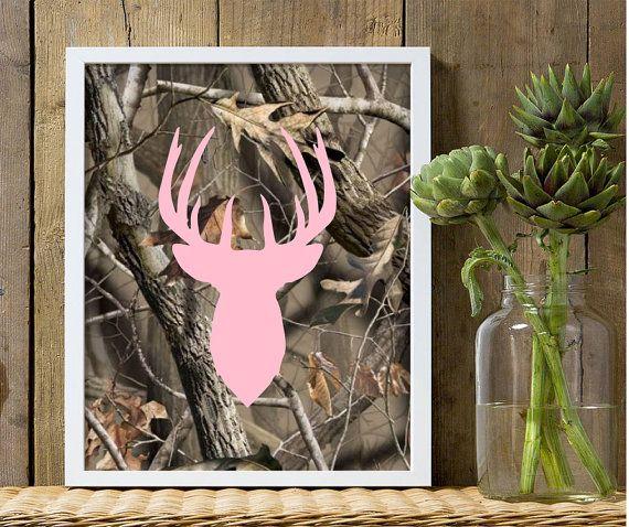 Girls nursery decor camouflage nursery pink by customedgestudio