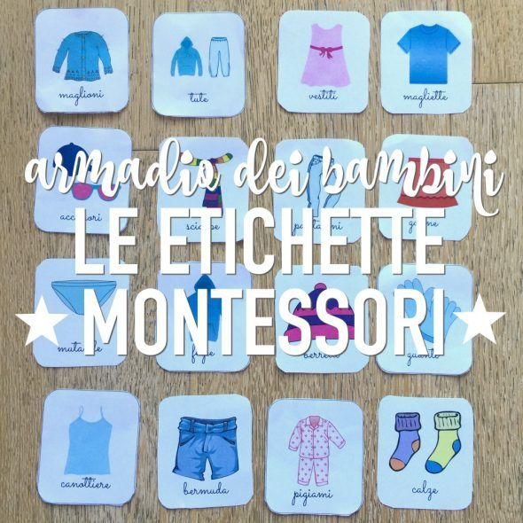 Se stai cercando le etichette per gli armadi dei bambini, qui le trovi in pdf. Etichette Montessori da stampare per organizzare gli armadi. Scarica ora!