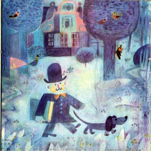 イジー,V・スヴォボダの詩にヨゼフ・パレチェクがイラストを担当した絵本。小さめサイズの絵本ですがカラーのかわいいイラストがたくさん掲載されています。パレチェクのイラストの中でも特にかわいい物が多いように思いますのでオススメですよ。