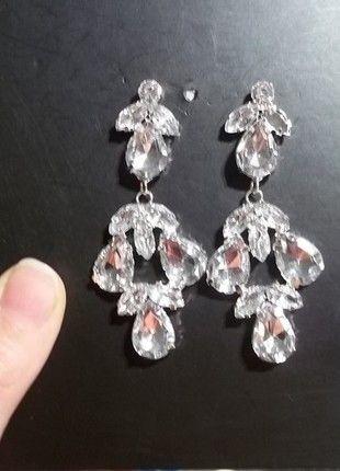Kupuj mé předměty na #vinted http://www.vinted.cz/zeny/nausnice/8771551-stribrne-elegantni-nausnice-s-kaminky