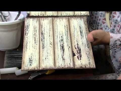 Mulher.com - 11/08/2015 - Falso ripado com distress e craquelê - Lu Heringer PT2 - YouTube