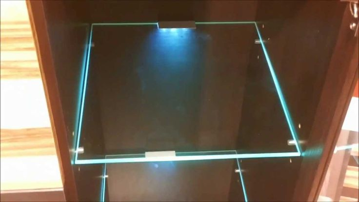 1000 images about led lit shelves on pinterest glass for Glass cabinet with lights