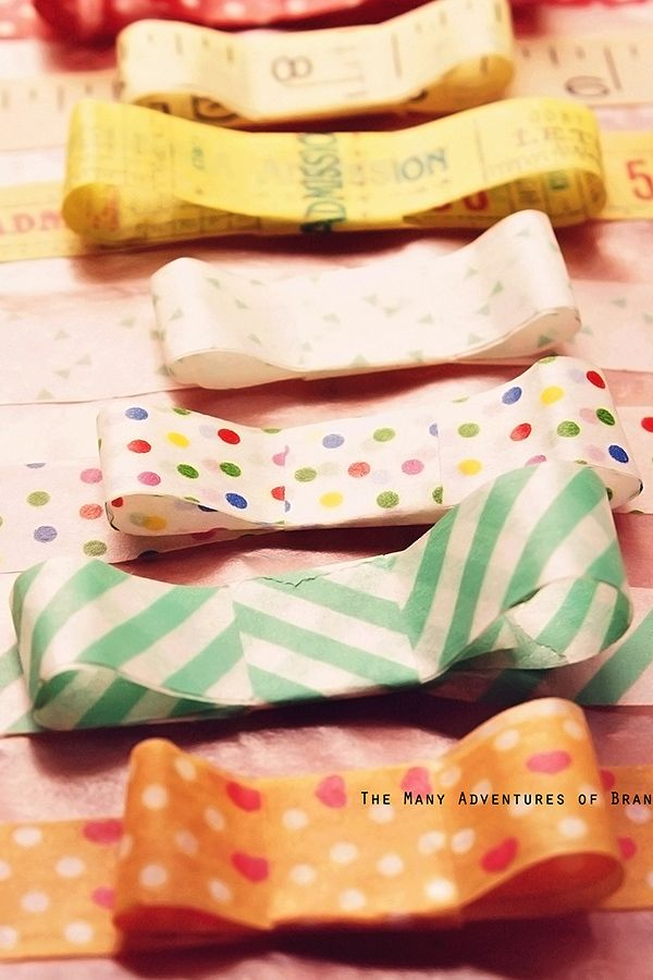 Washi tape bows