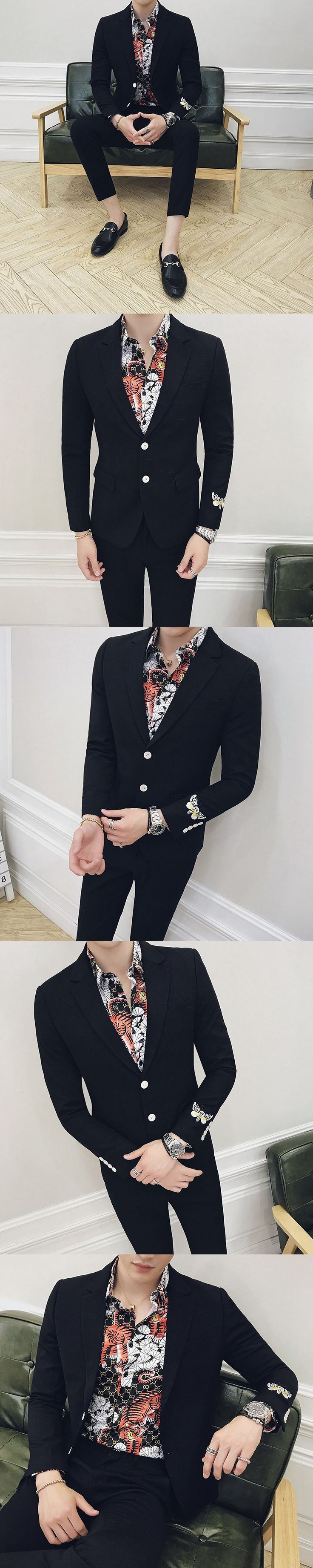 2017 Mens Suits Slim Fit Black Blazer Mens Smoking Mariage Homme Mens Party Suits Prom Business Blazers Social  Club Outfits