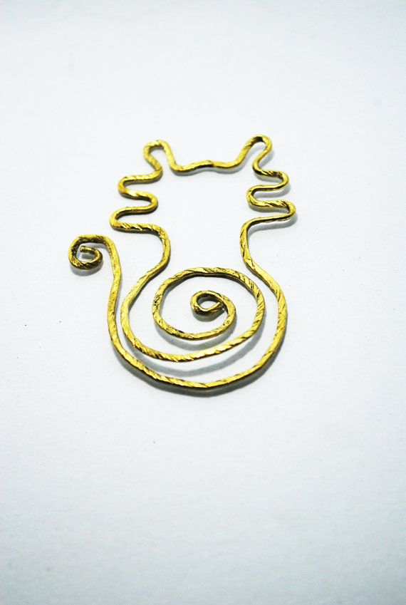 Paper Clip Brass Cat shaped paper clip by SouvenirsAtChiangMai