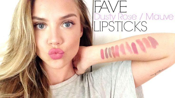 Fave MAUVE & DUSTY ROSE Lipsticks + TRY ON