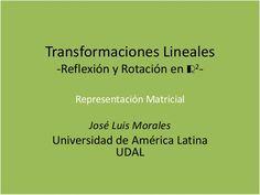 Transformaciones lineales de la reflexión y rotación en forma matrici…