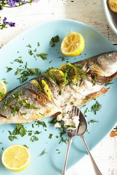 Mackerel, sea bass, sea bream, sardines and trout are all good cooked whole on the barbecue. Make sure the fish is scaled and gutted and the fins have been removed. Learn how to cook the delicious fruits of the sea with our easy guide. | Tesco