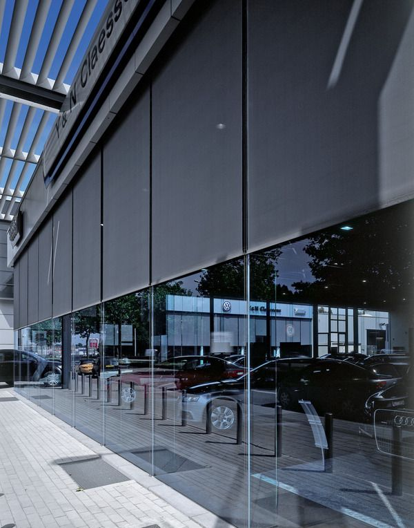 External roller blinds can help contribute to a building's sustainability by the management of solar heat protection, light diffusion, enhanced interior comfort and increased occupant productivity