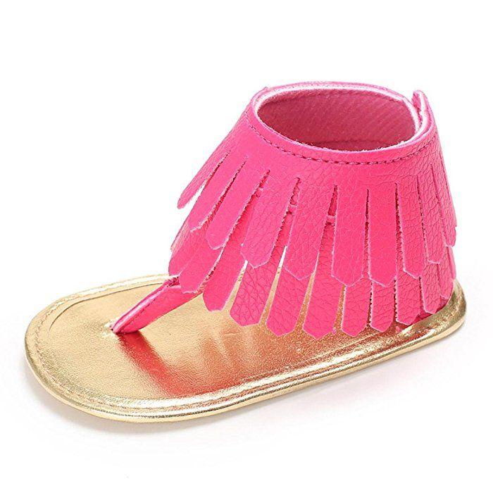 6467ebcd81218 Amazon.com: Voberry Toddler Baby Girls Tassel Sandals Soft Soled ...