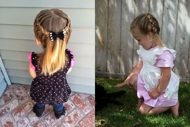 Прически для маленьких девочек: косички