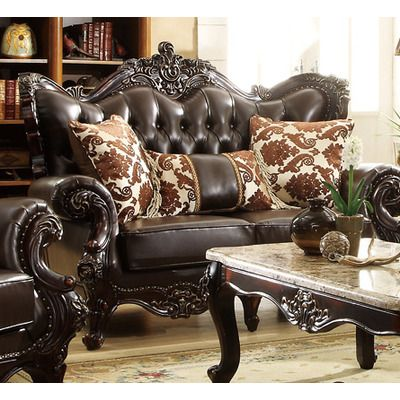 Meridian Furniture USA Barcelona Leather Loveseat