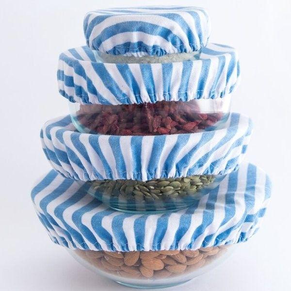 4myearth Food Cover Set Denim Stripe Food Cover Stripes Design