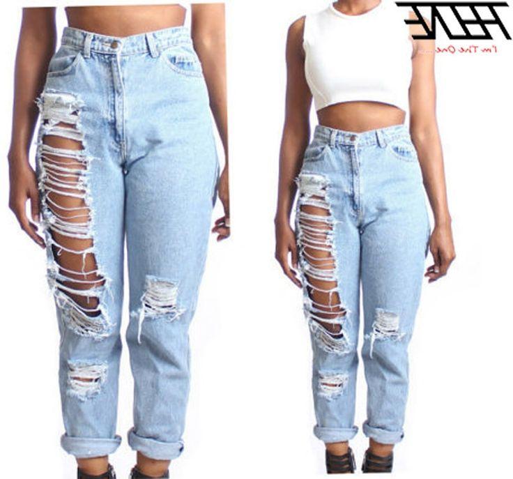 31.80$  Watch now - https://alitems.com/g/1e8d114494b01f4c715516525dc3e8/?i=5&ulp=https%3A%2F%2Fwww.aliexpress.com%2Fitem%2FNew-Summer-Style-Plus-Size-4XL-Women-Jeans-Capris-High-Waist-Hole-Ripped-Loose-Fashion-Feminina%2F32363179586.html - Plus Size 4XL Women Jeans High Waist Big Hole Ripped Loose Straight Thin Summer Style Fashion Casual Brand Denim Pants Torn 31.80$